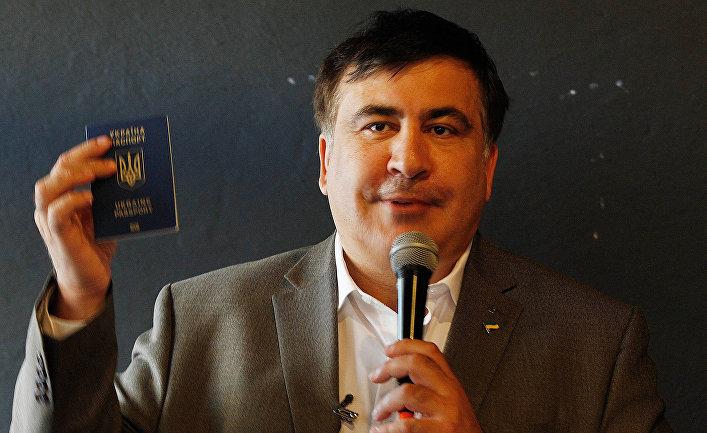 Михаил Саакашвили на встрече со своими сторонниками в Варшаве