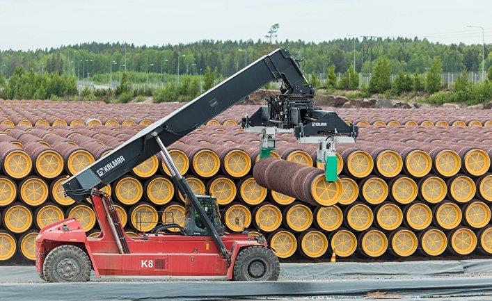 Трубы для «Северного потока – 2» в Котке, Финляндия