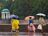 Дождь в Москве.