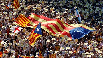 В городах Каталонии проходят митинги в поддержку независимости этого испанского автономного сообщества