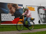 Плакаты избирательных кампаний Ангелы Меркель и Кристиана Линднера
