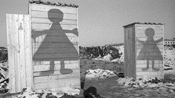 Кабинки временных женских туалетов