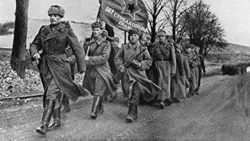 Советские войска на территории освобожденной Польши