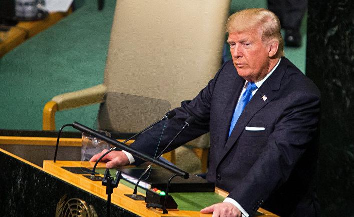 Президент США Дональд Трамп выступает на заседании Генассамблеи ООН