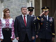 Президент Украины Петр Порошенко, военная академия США Вест-Пойнт