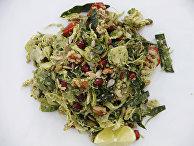Салат с высоким содержанием белка и брюссельской капустой
