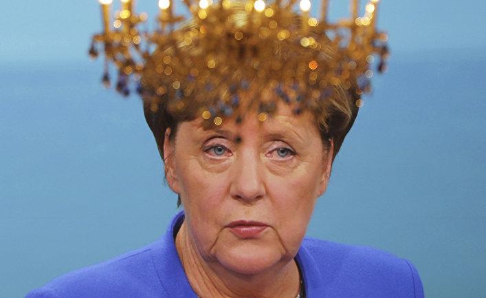 Канцлер Германии Ангела Меркель во время теледебатов