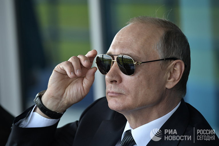 Владимир Путин на салоне МАКС-2017. 18 июля 2017