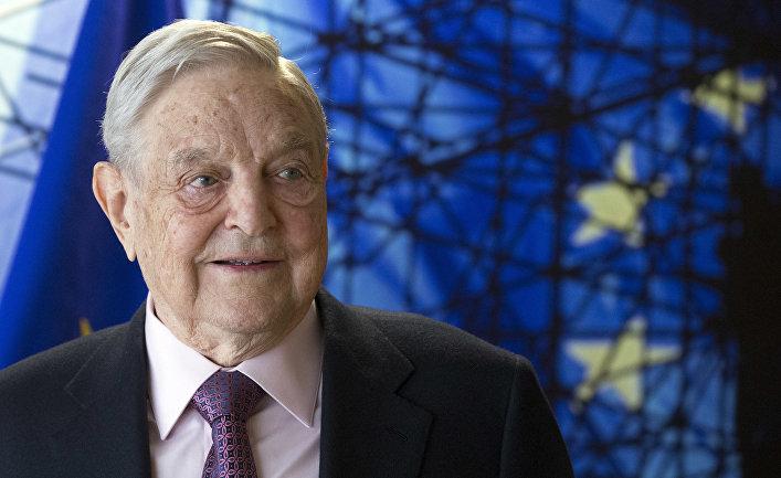 Американский миллиардер Джордж Сорос в Брюсселе