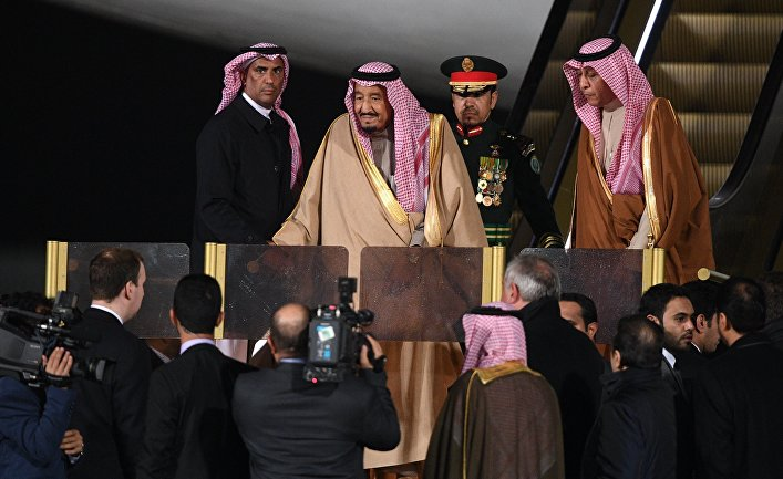 Прилет короля Саудовской Аравии С. Аль-Сауда в Москву