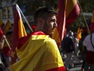 Митинг в защиту единства Испании в Барселоне