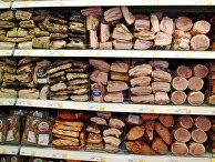 Стеллаж с мясными изделиями