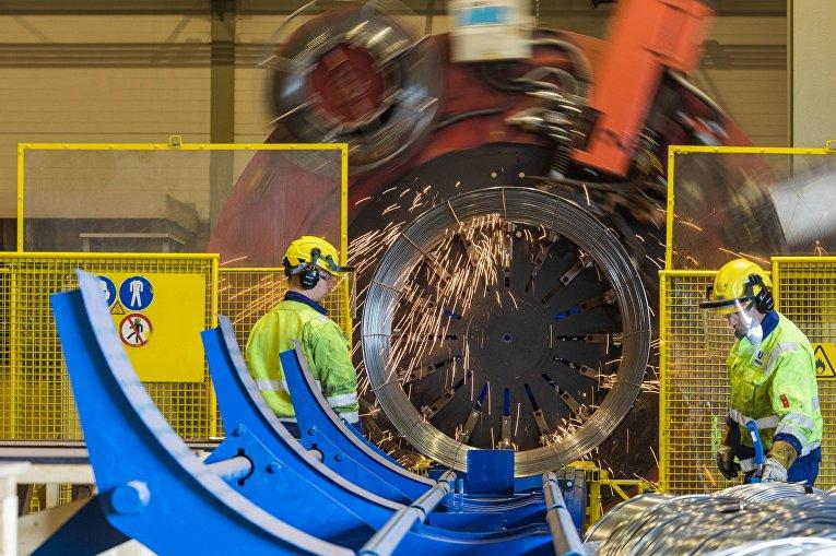 Изготовление труб для «Северного потока - 2» в Котке, Финляндия
