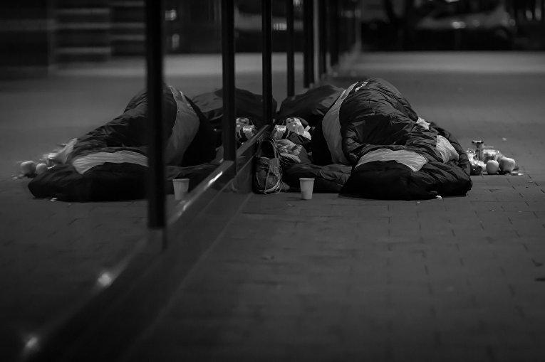 Бездомный в Гамбурге, Германия