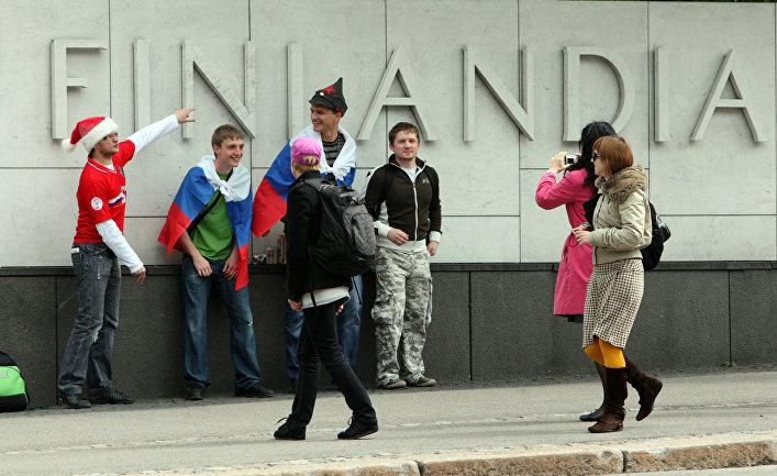Хельсинки перед началом матча Финляндия-Россия