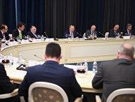 Президент РФ В. Путин встретился с представителями деловых кругов Германии