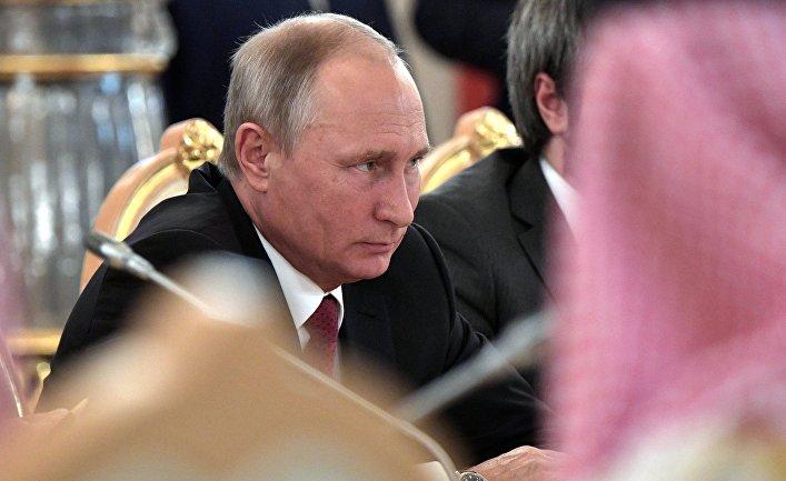 Президент РФ Владимир Путин во время российско-саудовских переговоров. 5 октября 2017