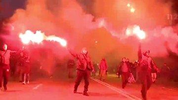 Националисты прошли маршем по Киеву