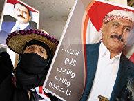 Сторонник бывшего президента Йемена Али Абдаллы Салеха в Сане, Йемен