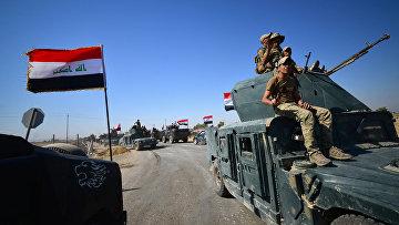 Иракские военные направляются к городу Киркук, Ирак. 16 октября 2017