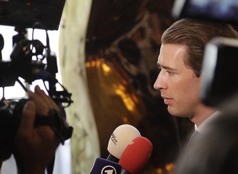 6 июля 2017. Министр иностранных дел Австрии Себастьян Курц