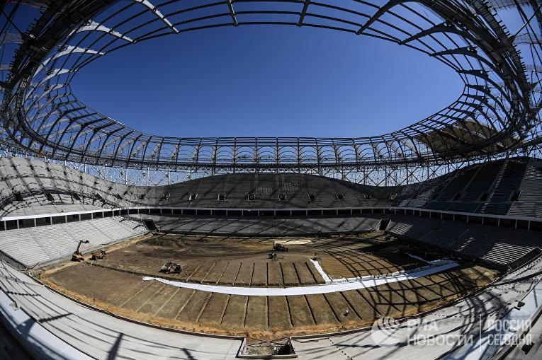 """Строительство стадиона """"Волгоград Арена"""""""