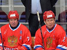 Хоккей. Лига Легенд мирового хоккея. Матч Россия - Финляндия