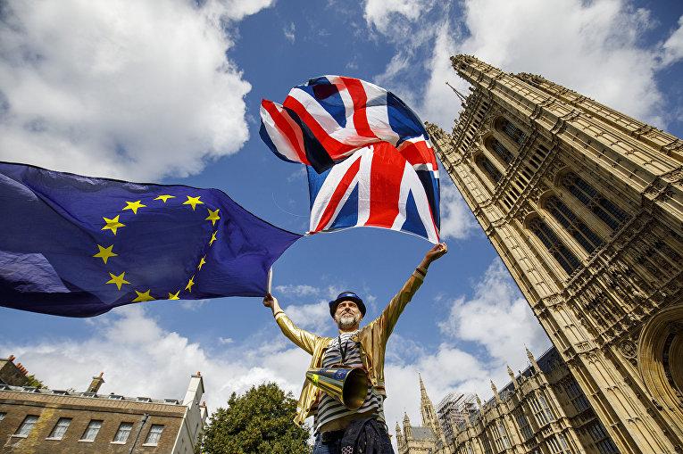 Акция протеста против выхода Великобритании из Еврозоюза