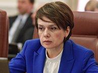 Министр образования и науки Украины Лилия Гриневич на заседании Кабинета министров Украины в Киеве