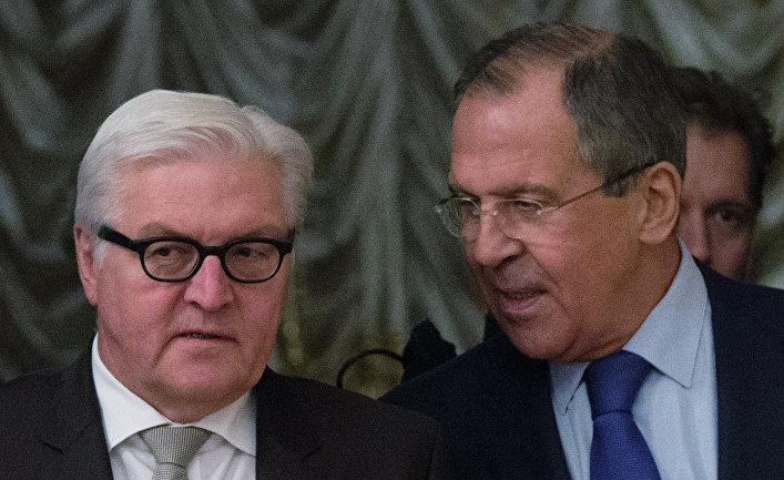 Встреча глав МИД России и Германии С.Лаврова с В.Штайнмайером