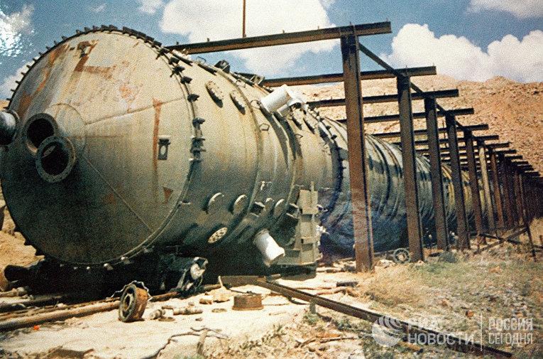 Установка на Семипалатинском ядерном полигоне