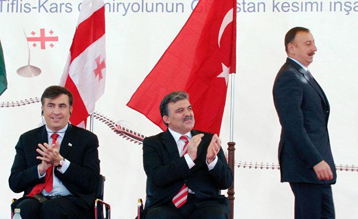 И.Алиев А.Гюль М.Саакашвили