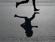 Участник забега в рамках Всероссийского дня бега «Кросс Нации - 2017» в Казани