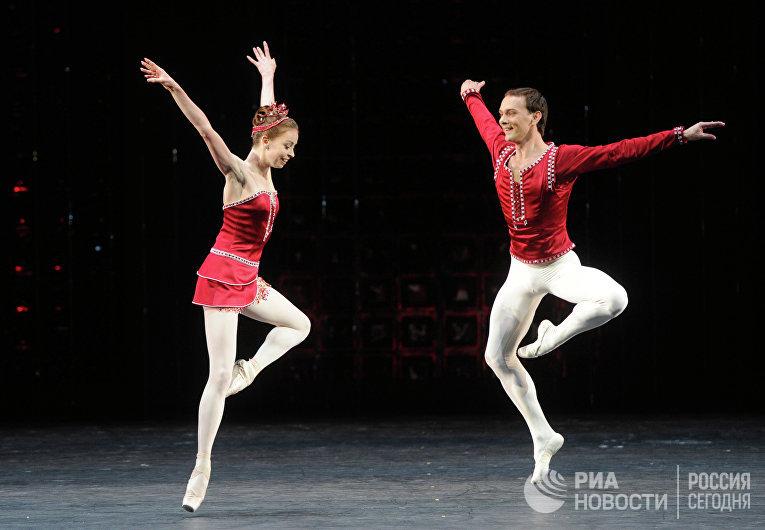 """Репетиция балета """"Драгоценности"""" в Большом театре"""