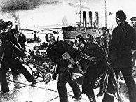 Матросы во время Октябрьской революции в Петрограде