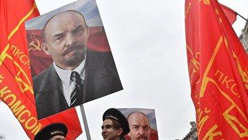 Митинг и шествие КПРФ в Москве
