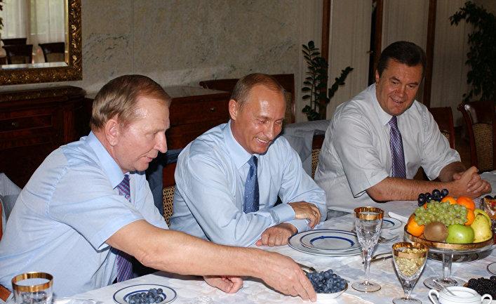 Л.Кучма, В.Путин, В.Янукович