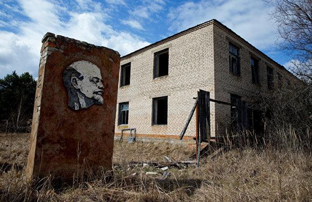 Ленин внутри 30-километровой зоны отчуждения вокруг чернобыльского ядерного реактора