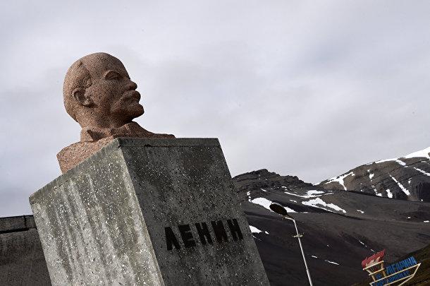 Ленин на норвежском арктическом архипелаге Шпицберген