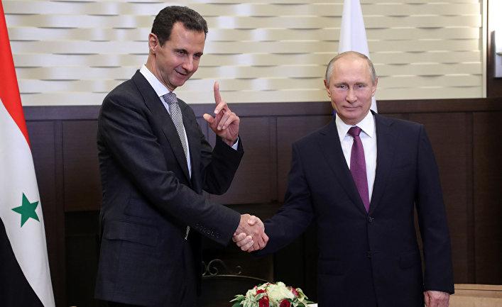 Владимир Путин и президент Сирии Башар Асад во время встречи. 21 ноября 2017