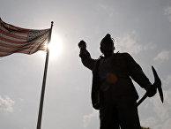 Памятник шахтеру в Поттсвилле, США