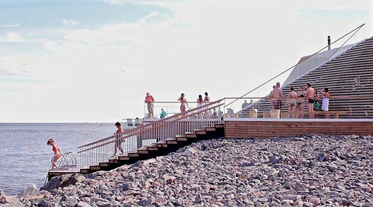 Общественная сауна «Löyly» в Хельсинки