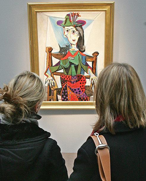 «Дора Маар с кошкой» Пабло Пикассо