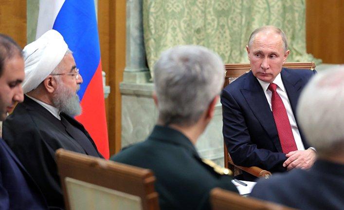 Встреча президента РФ В. Путина с президентом Ирана Х. Рухани