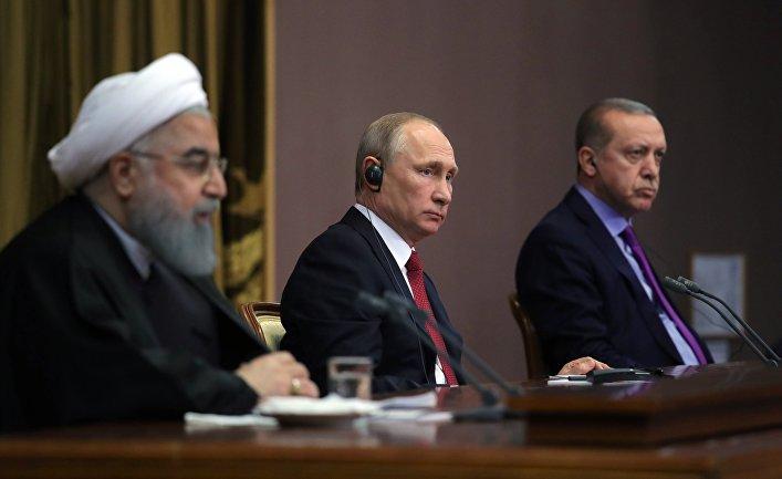 Владимир Путин, Хасан Роухани и Реджеп Тайип Эрдоган