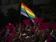 Акция в поддержку поддержку ЛГБТ-сообщества в Чечне