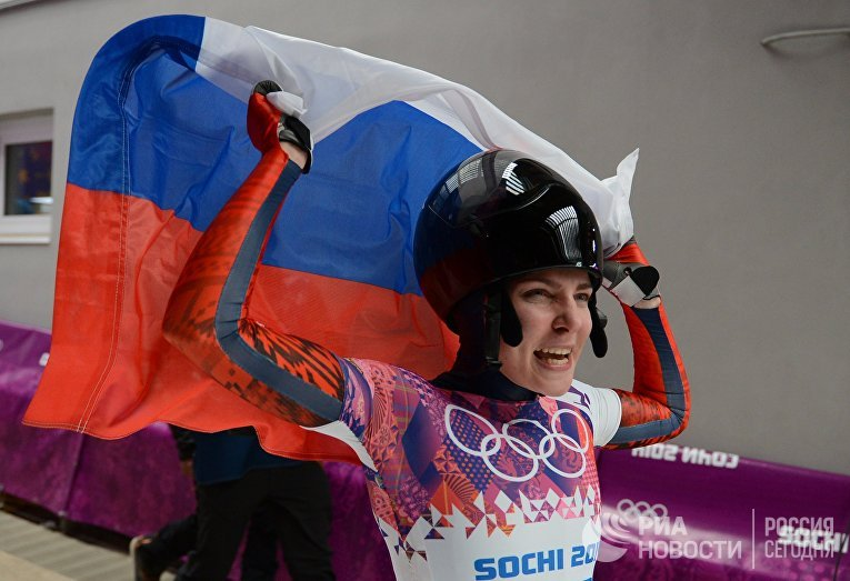 Елена Никитина (Россия) на финише
