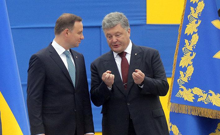 Президент Украины Петр Порошенко и президент Польши Анджей Дуда