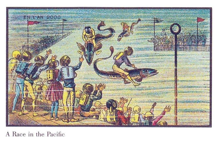 Карточка серии «Франция в 2000 году» — «Гонка в Тихом океане»