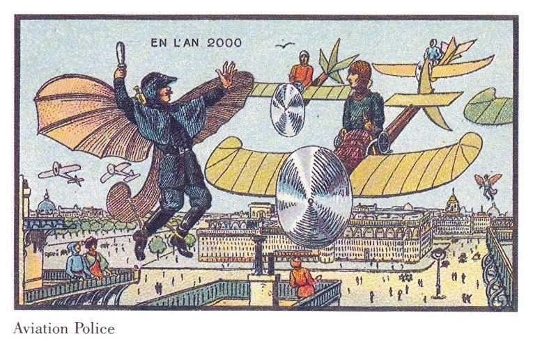 Карточка серии «Франция в 2000 году» — «Воздушные полицейские»
